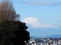 富士山とイタリア山