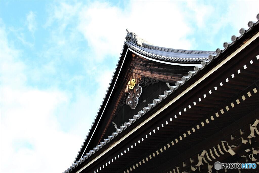 浄土宗総本山 知恩院 2020年2月11日火曜日祝日 京都 屋根