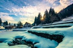 雪の段々畑