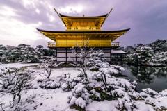 真冬の舎利殿