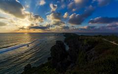 朝の東平安名岬