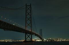 明石海峡大橋ライトダウン