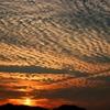 鱗雲&飛行機雲
