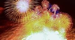 大荒れの日の花火大会