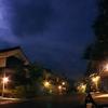月夜の街角