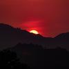 山里の落日