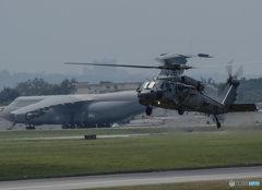 Kadena Air Base UH60とギャラクシー