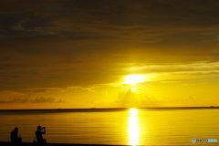 夕日を撮る