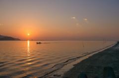 丸い夕陽 1