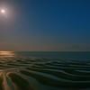 月光下の干潟模様 2(御輿来海岸)