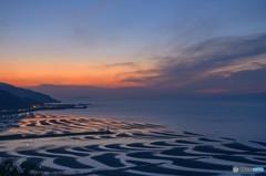 日没後の干潟色
