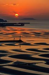 夕暮れの御輿来海岸 2