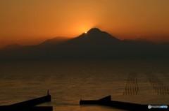 有明海の夕暮れ 3
