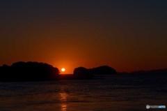 久々のだるま夕陽 2