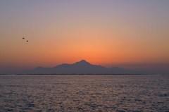 雲仙普賢岳の夕暮れ 3