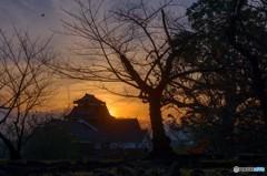 熊本城の夕暮れ 4