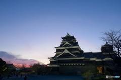 熊本城の夕暮れ 5完