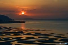 晩秋の御輿来海岸 2