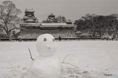 雪に癒され・・・