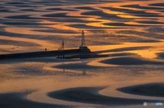 砂紋と灯台