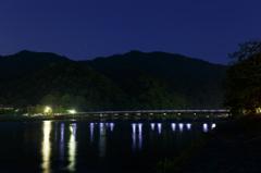 嵐山渡月橋の夜景