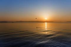 琵琶湖 高島の朝