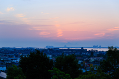 日の出前の空色