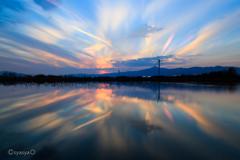 琵琶湖の冬色