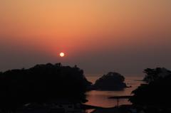 島原の朝日