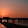 嵐山渡月橋の日の出