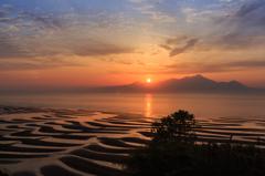 おこきし海岸の夕日