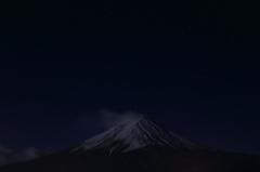 満月の冨士と星空