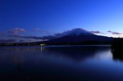 河口湖 大石公園から 日没前