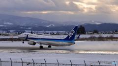 富山きときと空港〜2月最後の積雪