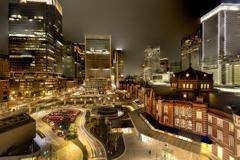 Tokyo Station night view long exposure