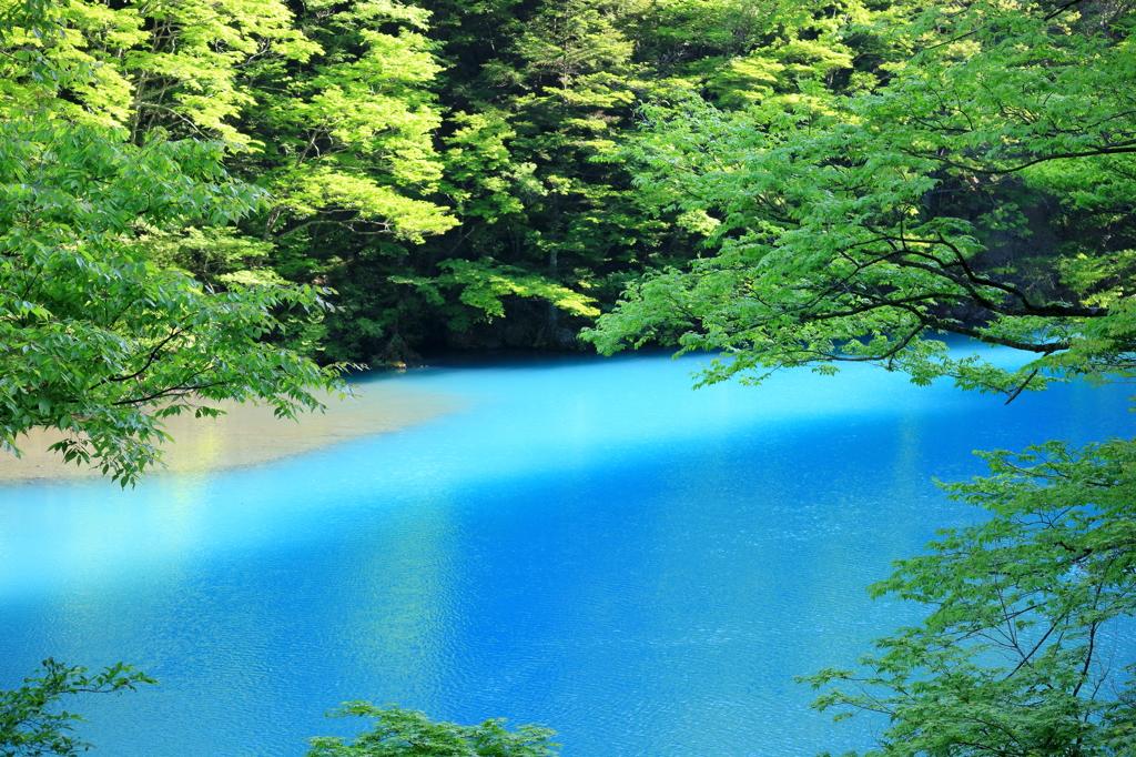 寸又峡 大間ダム湖