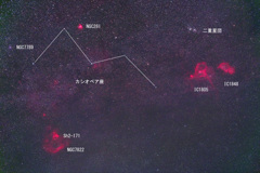 カシオペア座周辺の星雲星団