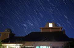 さじ天文台に沈むオリオン座