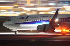 ANA B737-800到着