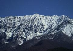 月夜の大山