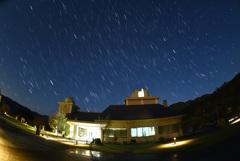 さじ天文台に沈む冬の星座