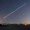 鳥取砂丘と夜間飛行の軌跡