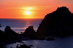 夕日の浦富海岸