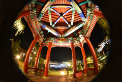 中国庭園 燕趙園の夜