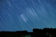 沈むオリオン三ツ星・M42