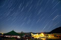 燕趙園に昇る夏の星座