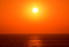日本海の夕陽(^^;)