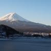 朝 富士山