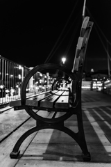 ハーバーのベンチ