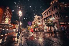 雨のディズニーシー